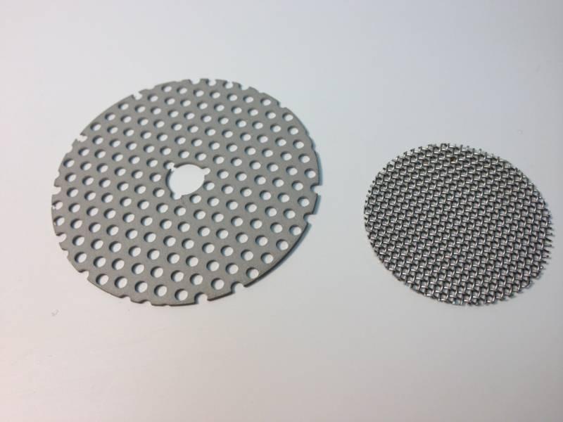 Die-Cut Dots on Mesh Mesh Fabric